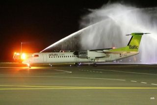 Event for the first route Riga-Liepaja airpla