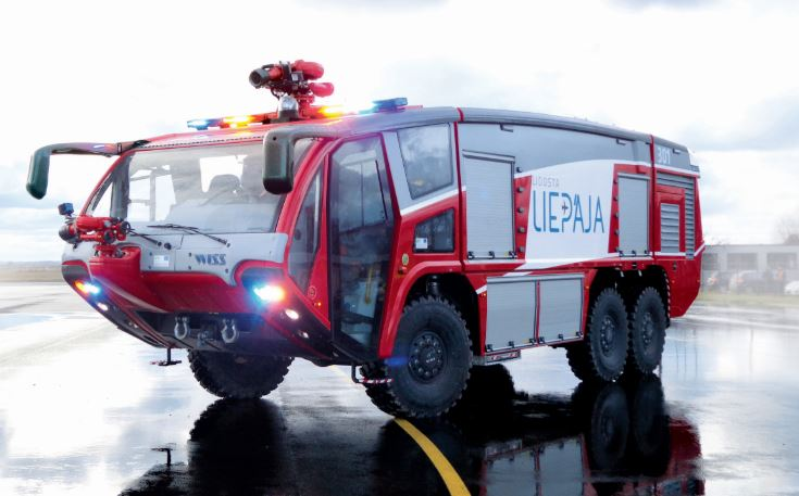 17.12.2015. Liepaja airport has received the two new aviation rescue and fire fighting vehicles!
